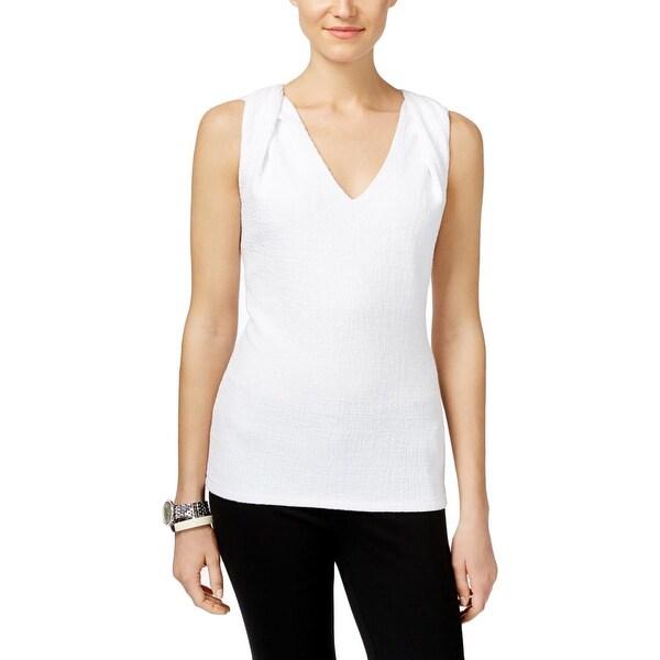 MICHAEL Michael Kors Womens Blouse Textured Twist Strap