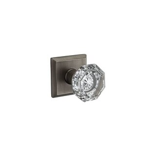 Baldwin PV.CRY.TSR Crystal Privacy Door Knob Set with Traditional Square Trim from the Reserve Colle