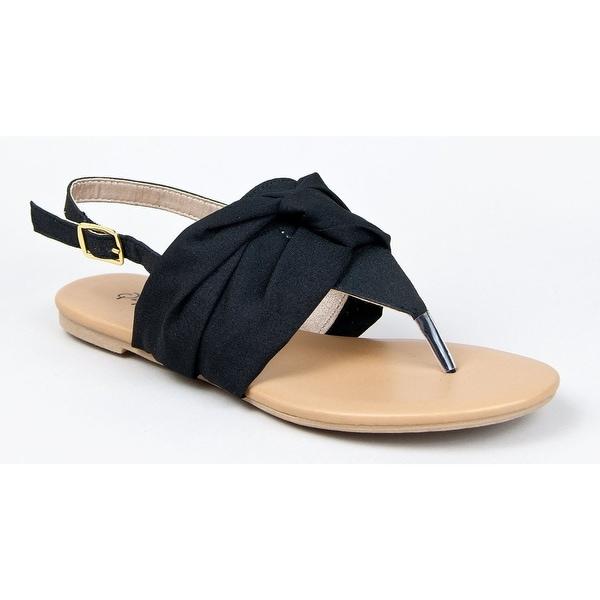 Qupid Lana-291 Basic Women's Casual Slingback Thong Flat Sandal