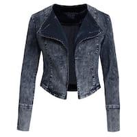 NE PEOPLE Womens Vintage Denim Hoodied Jacket [NEWJ29]