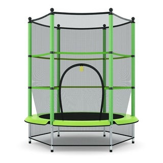 Link to Gymax Kids Youth Jumping Round Trampoline Exercise W/ Safety Pad Similar Items in Outdoor Play