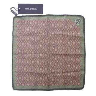 Dolce & Gabbana Dolce & Gabbana Green Silk Handkerchief - One size
