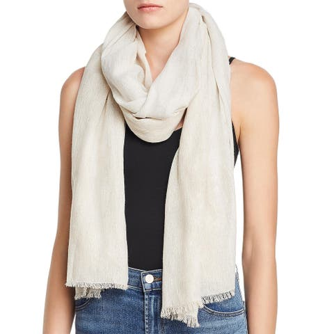 Eileen Fisher Womens Scarf Metallic Fashion - Natural - O/S