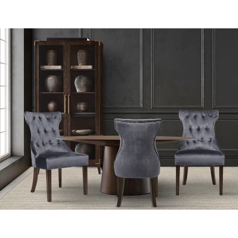 Chic Home Bronte Velvet Modern Contemporary Button Tufted Dining Chair