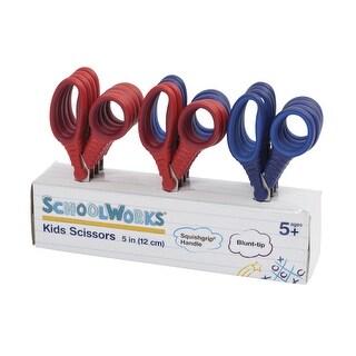 Fiskars Schoolworks Kids Scissors, 5 Inches, Blunt Tip, Assorted Colors, Set of 12
