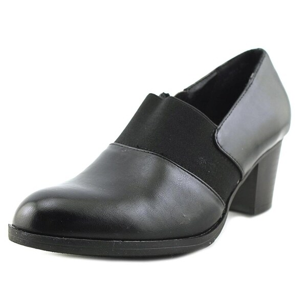 Kim Rogers Reily Women W Round Toe Synthetic Black Heels