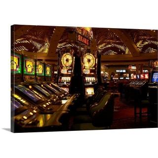 """Interior of empty casino"" Canvas Wall Art"