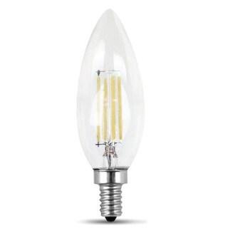 Feit Electric BPCTC60/850/LED/2 Chandelier Blunt Tip LED Light Bulb, Clear