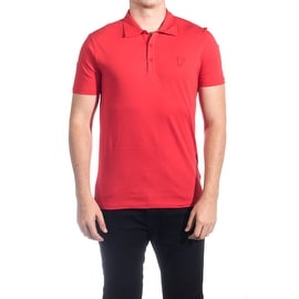 Versace Collection Men's Soft Cotton Polo Shirt Red