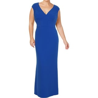 Lauren Ralph Lauren Womens Andromeda Mother of the Bride Dress Taffeta V-Neck