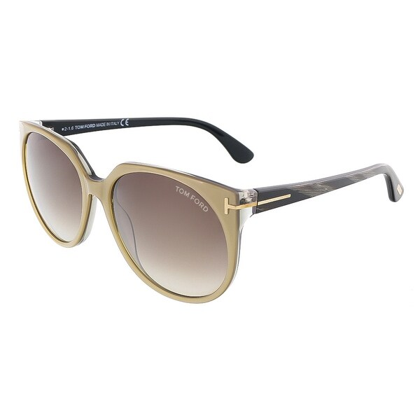 Tom Ford FT0370/S 38B AGATHA Bronze/Marbled Black Oval sunglasses - bronze/marbled black