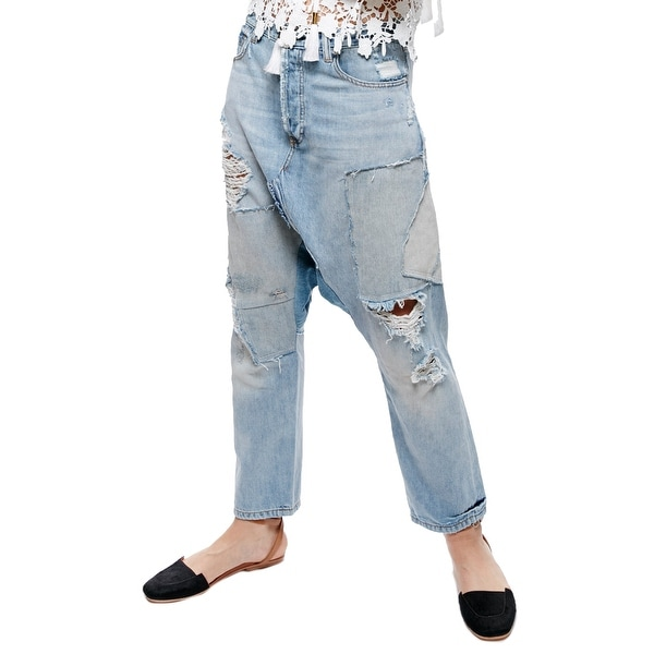 64329efd1fe27 Shop Free People Blazing Summer Cotton Ripped Harem Jeans - Free Shipping  Today - Overstock - 22087808
