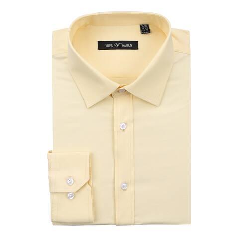 Men's Dress Shirt Regular Fit Cotton Solid Oxford Shirt for Men