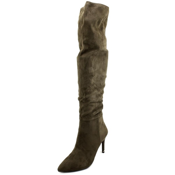 Call It Spring Rosenman Women Pointed Toe Suede Brown Over the Knee Boot
