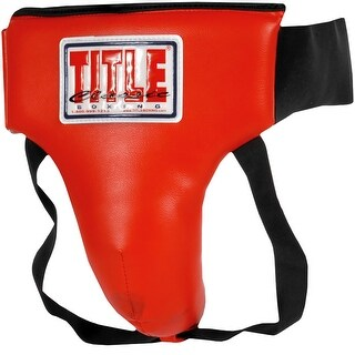 Title Boxing Classic Training and Competition Groin Protector Plus - Red/Black (2 options available)