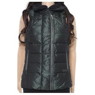 Helly Hansen NEW Green Womens Medium M Iona Quilted Down Vest Jacket