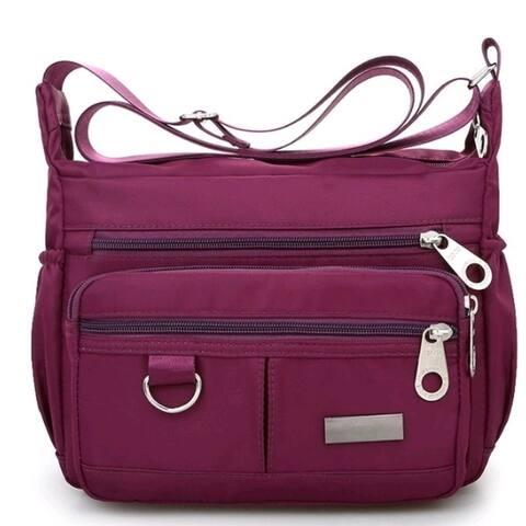 Women Waterproof Single-Shoulder Messenger Crossbody Bag Nylon Purse Travel Lady