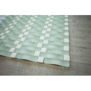 TileGen. 3D Bridge Random Sized Mixed Material Tile in Black Wall Tile (6 sheets/6.36sqft.)