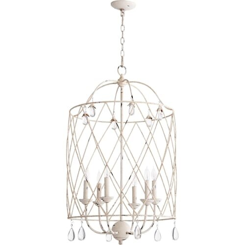 """Quorum International 6944-6 Venice 20"""" Wide 6 Light Pendant with Crystal Accents"""