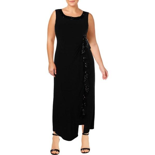 R&M Richards Womens Evening Dress Sleeveless Formal
