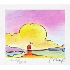 """Sailboat on the Horizon, Ltd Ed (Mini 2.75"""" x 3.125""""), Peter Max"""
