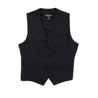 Kenneth Cole Reaction Men's Five-Button Grid Vest (S, Charcoal Heather) - Charcoal Heather - S
