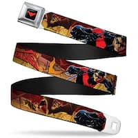 Nightwing Logo Full Color Black Red Nightwing Poses Bats Welcome To Gotham Seatbelt Belt