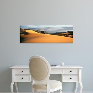 Easy Art Prints Panoramic Image 'Sand dunes in a desert at dusk, Coral Pink Sand Dunes State Park, Utah' Canvas Art