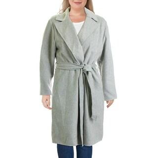 Link to Lauren Ralph Lauren Womens Tarynna Wrap Coat Wool Blend Maxi - Grey Heather Similar Items in Women's Outerwear