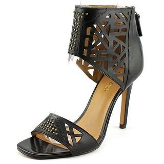 Nine West Karabee Women Open Toe Leather Black Sandals