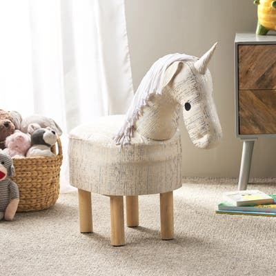 Wendover Contemporary Kids Unicorn Ottoman by Christopher Knight Home