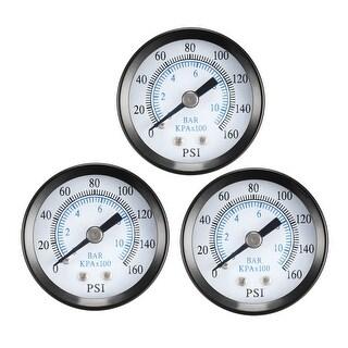 """Pressure Gauge , 0-160 PSI/0-10 BAR Dual Scale ,1.4"""" Dial Display ,1/8"""" NPT 3pcs"""