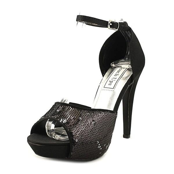 Touch Ups Debbie Women Open-Toe Canvas Black Heels
