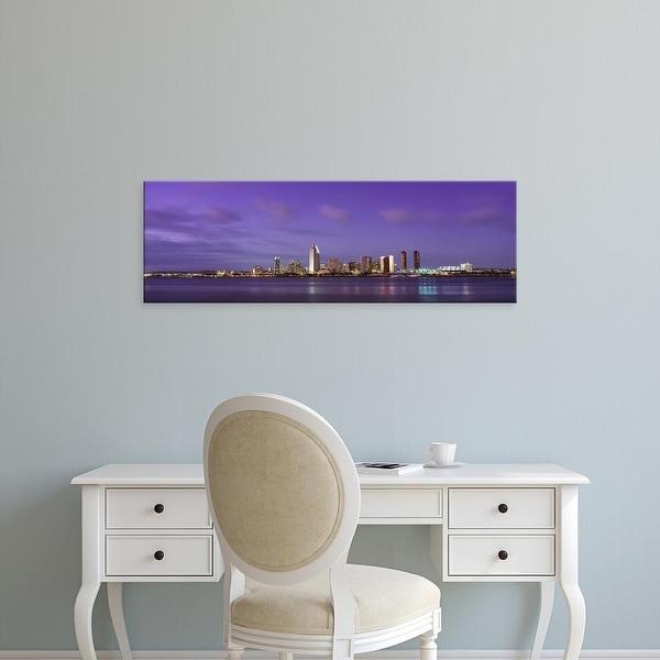 Easy Art Prints Panoramic Images's 'USA, California, San Diego, dusk' Premium Canvas Art