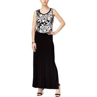 Karen Kane Womens Maxi Dress Embroidered Full Length - xs