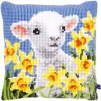"""16""""X16"""" - Lamb Cushion Cross Stitch Kit"""