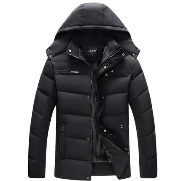Men's Coats Hooded Fleece Faux Fur Lined Warm Coats Outwear Winter Jackets  - Overstock - 31153046