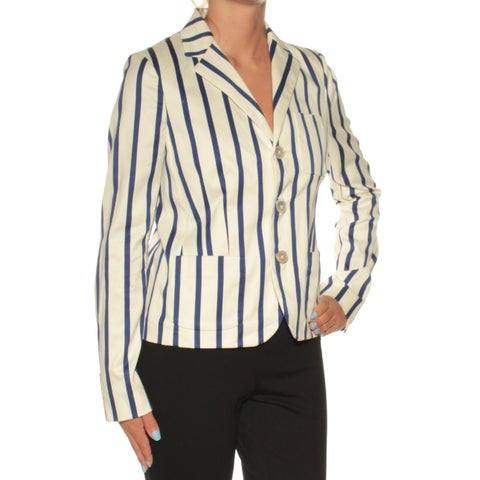 RACHEL ROY Womens Navy Striped Suit Jacket Size: 2