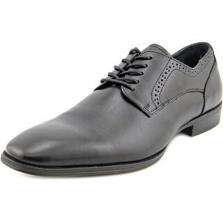 Alfani Spin Men Round Toe Leather Black Oxford