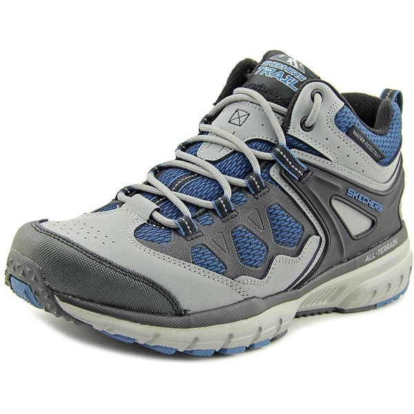 Skechers Geo Trek - Sequencer Men Round Toe Leather Gray Hiking Shoe
