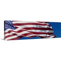 Premium Thick-Wrap Canvas entitled American Flag - Multi-color