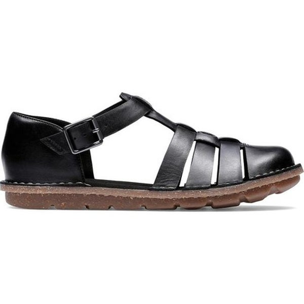 3ba84d10a06 Shop Clarks Women s Blake Moss Fisherman Sandal Black Leather - On Sale -  Free Shipping Today - Overstock - 27346855