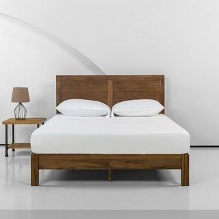 Priage by Zinus Acacia Wood Platform Bed with Headboard
