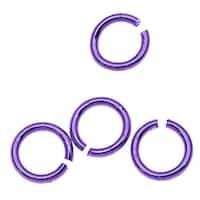 Purple Color Brass - 5mm 21 Gauge Open Jump Rings (25)