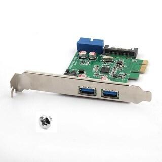 Unique BargainsComputer PCI-E to USB 3.0 2-Port Express Card Desktop Expansion Card