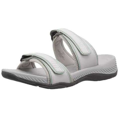 Easy Spirit Womens E-NETTIE3 Leather Open Toe Slip On Slippers