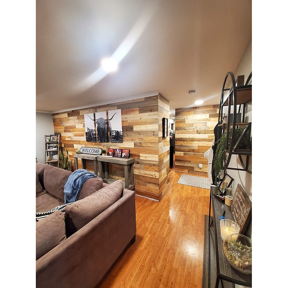 Timberchic Reclaimed Wooden Wall Planks Peel And Stick Application River Planks On Sale Overstock 21444395