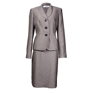 Le Suit Women's Monte Carlo Faux Bois Textured Skirt Suit (More options available)