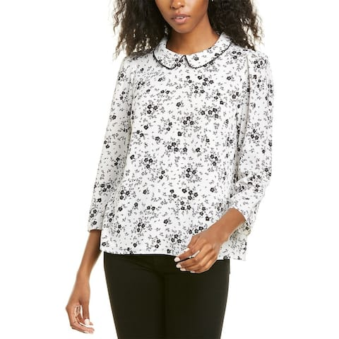 Cece By Cynthia Steffe 3/4-Sleeve Delicate Floral Blouse