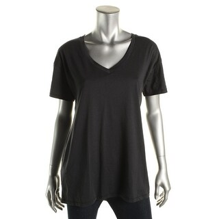 Alternative Womens Short Sleeves V-Neck T-Shirt - L